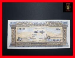 CAMBODIA 50 Riels  1956-1975  P. 7 D   6 Digit Serial UNC - Cambodia