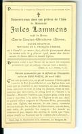 SM Jules Lammens Veuf Marie Louise Minne, Ancien Sénateur, Gand 1908 Gent - Décès
