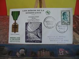 Médéric Vedy - Les Héros De La Résistance - (75) Paris - 25.4.1959 - FDC 1er Jour Coté 3€ - FDC