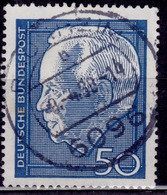 Germany, 1967, Re-election Of Pres. Heinrich Lubke, 50pf, Sc#975, Used - [7] Federal Republic