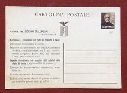 CARTOLINA POSTALE REPUBBLICA SOCIALE MAZZINI 30 C.  CON STAMPA PRIVATA - 4. 1944-45 Repubblica Sociale
