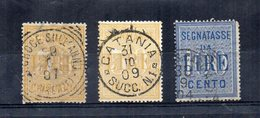 Italia - Regno - 1903 - Segnatasse Tipo Del 1884 In Colori Cambiati- 2 Da 50 E 1 Da 100 Lire - Usati - (FDC12615) - 1900-44 Vittorio Emanuele III