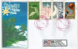 Belle Lettre De Saipan. îles Mariannes Du Nord, Adressée Etats-Unis - Northern Mariana Islands