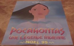 AFFICHE CINEMA ORIGINALE DESSIN ANIME POCAHONTAS Une Légende Indienne Walt Disney Préventive NOEL 1995 TBE - Posters