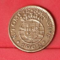 SAINT THOMAS E PRINCIPE 1 ESCUDOS 1962 -    KM# 18 - (Nº25816) - Portugal