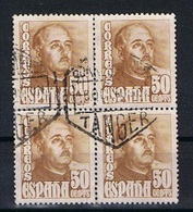 Spanje Y/T 770A (0) In Blok Van 4 En Met Stempel TANGER - 1931-Aujourd'hui: II. République - ....Juan Carlos I