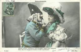 FANTAISIE COUPLE . LOT  DE 6 CARTES ANCIENNES  N° 114 - Postcards