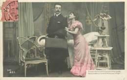 FANTAISIE COUPLE . LOT  DE 4 CARTES ANCIENNES  N° 116 - Postcards