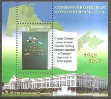 Uzbekistan 2017 25 Years Of Constitution Anniversary Mi. No. Bl. 87 (1207) Souvenir Sheet Mint MNH Postfrisch Neuf ** - Usbekistan