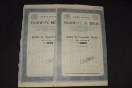 2X Tramways De Tiflis Pas De Capital (4) - Railway & Tramway