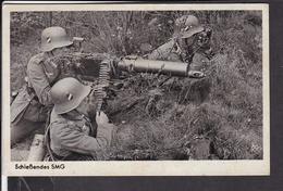 """Postkarte Wehrmacht """" Schießendes MG """" Feldpost 1941 Stempel Fürth - Deutschland"""