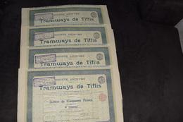 4X Tramways De Tiflis Pas De Capital (4) - Railway & Tramway