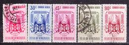 Venezuela 1952-Posta Aerea LARA    -Valori Vari Usati - Venezuela
