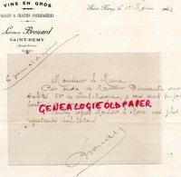79- SAINT REMY- RARE LETTRE MANUSCRITE SIGNEE LEONCE BROUARD-MARCHAND VINS-GRAINS GRAINES 1923 - Levensmiddelen