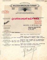 75- PARIS- RARE LETTRE WILTON BROCKLISS TIFFANY-FILMS  CINEMA- MARSEILLE- SIMPLEX-1930-IDEAL CINEMA A PONS 17 - Petits Métiers