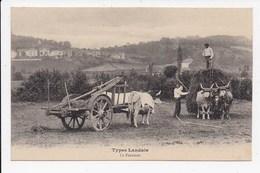 CPA 40 TYPES LANDAIS La Fenaison - Otros Municipios