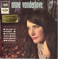"""ANNE VANDERLOVE """"BALLADE EN NOVEMBRE - DITES MOI - LES ENFANTS TRISTES  - MES BEAUX AMOURS"""" DISQUE VINYL 45 TOURS - Vinyl Records"""