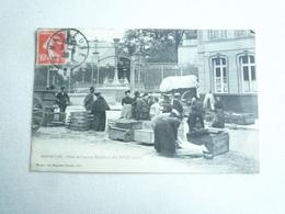 1908 MAUBEUGE PLACE DE L'ANCIEN MARCHE AU FIL (XVIIIe) EDITION LEVEQUE CIRCULÉE DOS DIVISE  ETAT BON - Maubeuge