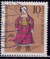 Germany, 1968, 19th Century Doll,10pf +5pf, Sc#B438, Used - [7] Federal Republic