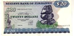 Zimbabwe P.4 20 Dollars 1994  Unc - Zimbabwe
