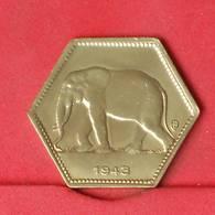 BELGIAN CONGO 2 FRANCS 1943 -    KM# 25 - (Nº25849) - 1934-1945: Leopold III