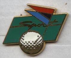 Pin's Golf Air France Air Inter Avion Aviation (signé Ballard) - Golf