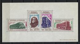 """Centrafrique Bloc YT 1 """" Voie Ferrée Bangui-Douala """" 1963 Neuf** - Central African Republic"""