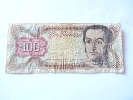 A  Vendre  1 Billet Du Venezuela De 100 Bolivars   . Tout Petit Prix De Départ - Venezuela