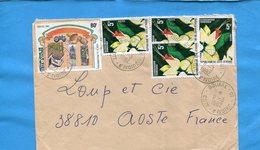 MARCOPHILIE-Cote D'ivoire -lettre>Françe-cad Bouake-1982-stamps-5--N°602 Ide à La Paysannerie-523 Flower  Clerodendron - Ivory Coast (1960-...)