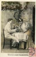 FANTAISIES COUPLE LOT DE 6 CARTES ANCIENNES N°127 - Postcards