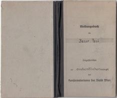 RAR !!! MELDUNGSBUCH KONSERVATORIUM Der Stadt WIEN 1946, Theater U. Literaturgeschichte, Format ... - Historische Dokumente