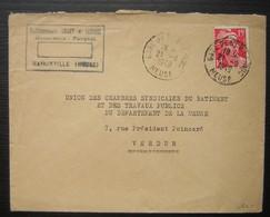 Haironville (Meuse) 1949 Etablissements Collet Et Lemoine, Menuiserie Parquet Cachet De La Gare De Bar Le Duc - Postmark Collection (Covers)