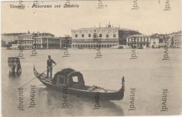 VENEZIA - Panorama Con Gondoòa Senza Il Campanile Di S. Marco - Venezia (Venice)