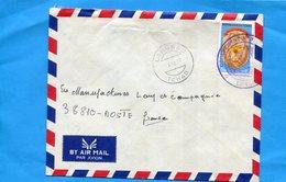 """MARCOPHILIE-TCHAD -lettre F M-Françe-cad -Largeau1977-stamps-N°FM N°3""""non Autorisé Hors Tchad"""" - Central African Republic"""