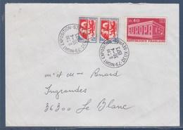 = Niort Exposition Deux Sèvres 30.4.73 Timbre 1598 Europa Et 1468 Auch - Gedenkstempels