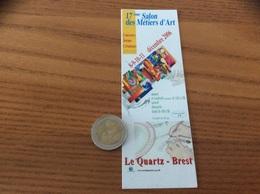 Marque-page « 17eme Salon Des Métiers D'Art - Le Quartz Brest (29)» 2006 - Marque-Pages