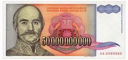 YUGOSLAVIA 50 MLRD DINARA 1993 Pick 136 Unc - Yugoslavia