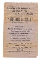 PAPIER PUBLICITAIRE SOUVENIRS DE ROYAN - Nacres Coquillages, Céramiques Cartes Postales Jouets De Plage.... - Sports & Tourisme