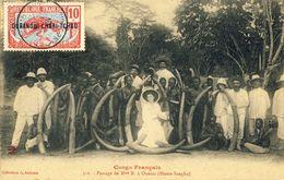 CONGO  FRANCAIS -- PASSAGE  De  Mme  B. à  OUESSO (Haute-Sangha) - Congo Français - Autres