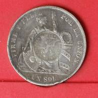 GUATEMALA 1 PESO 1894 YJ - CONTERSTAMPS ON PERU - 25 GRS - 0,900 SILVER   KM# 224 - (Nº25862) - Guatemala