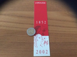 Marque-page ** « LAROUSSE 1852 2002» - Marque-Pages