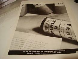 ANCIENNE PUBLICITE ANNUAIRE DIDOT-BOTTIN 1930 - Publicidad