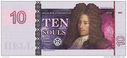 10 Souls 2014 BANQUE DES ÄMES DAMNEES  John LAW - Fictifs & Spécimens