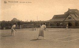 CPA - KNOKKE-ZOUTE (Belgique-Flandre Occidentale) - Aspect Des Courts De Tennis Du Sporting Club Dans Les Années 30 - Knokke