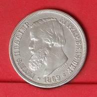 BRAZIL 1000 REIS 1869 - 12,5 GRS - 0,900 SILVER   KM# 476 - (Nº25866) - Brésil