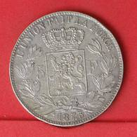 BELGIUM 5 FRANCS 1873 - 25 GRS - 0,900 SILVER   KM# 24 - (Nº25871) - 1865-1909: Leopold II