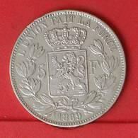 BELGIUM 5 FRANCS 1869 - 25 GRS - 0,900 SILVER   KM# 24 - (Nº25872) - 09. 5 Francs