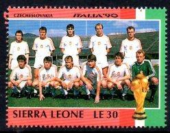 SIERRA LEONE    N °   ( Tchecoslovaquie )  * *  Cup 1990 Football  Soccer  Fussball - 1990 – Italy