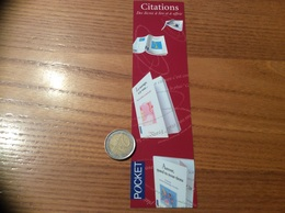 Marque-page «Citations - éditions POCKET » - Marque-Pages