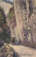 BOZEN-BOLZANO-IN DER EGGENTALER SCHLUCHT BEI BOZEN-SUD TIROL-CARTOLINA  VIAGGIATA IL 28-5-1922 - Bolzano (Bozen)